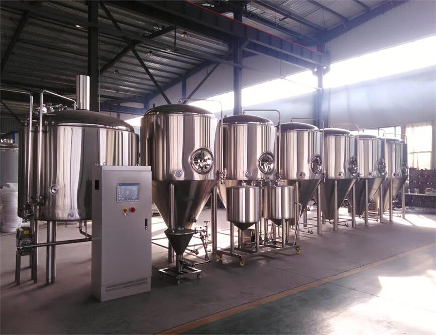 Dual Zone Jackets With Conical Bottom 500 Gallon Stainless Steel Beer Fermenter