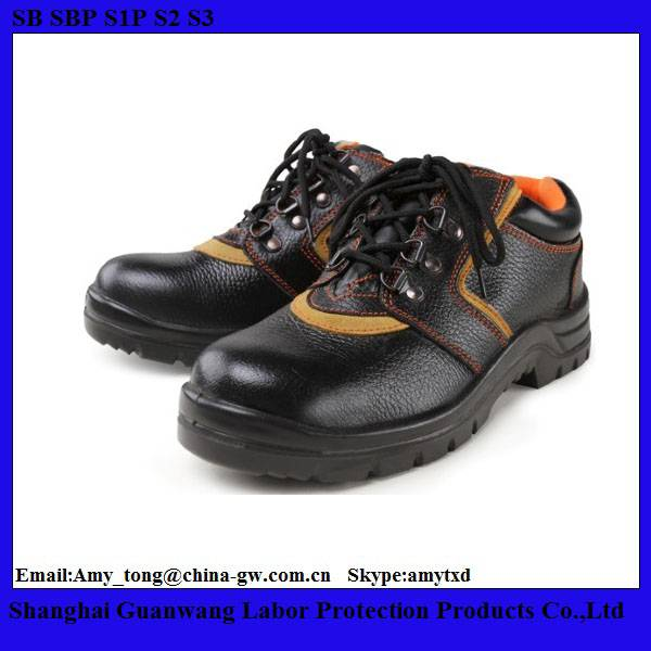 Chemical Resistant Safety Shoes With Black Steel For Construction Workers