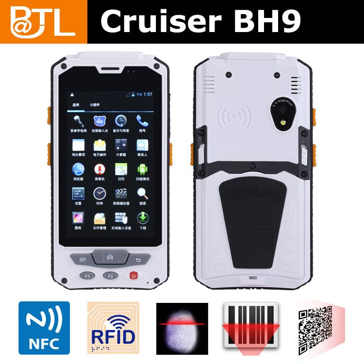 rugged handheld rfid reader Cruiser BH9/NFC/barcode scanner/fingerprint