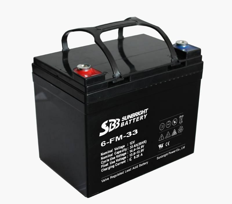 12V33AH solar battery
