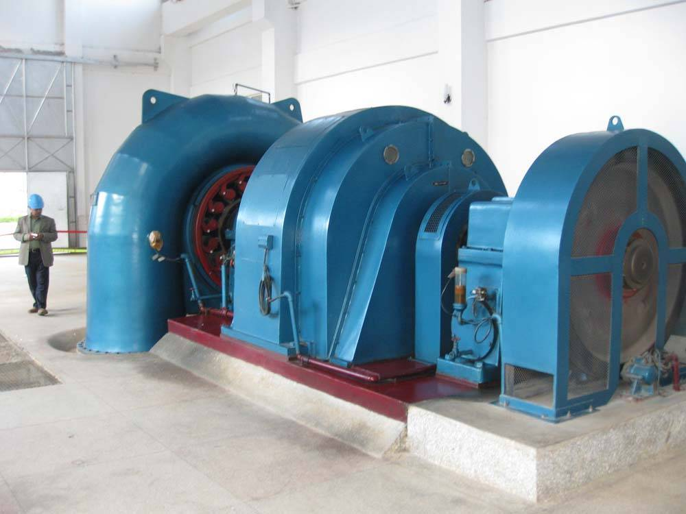 hydro turbine generator set for water power plant