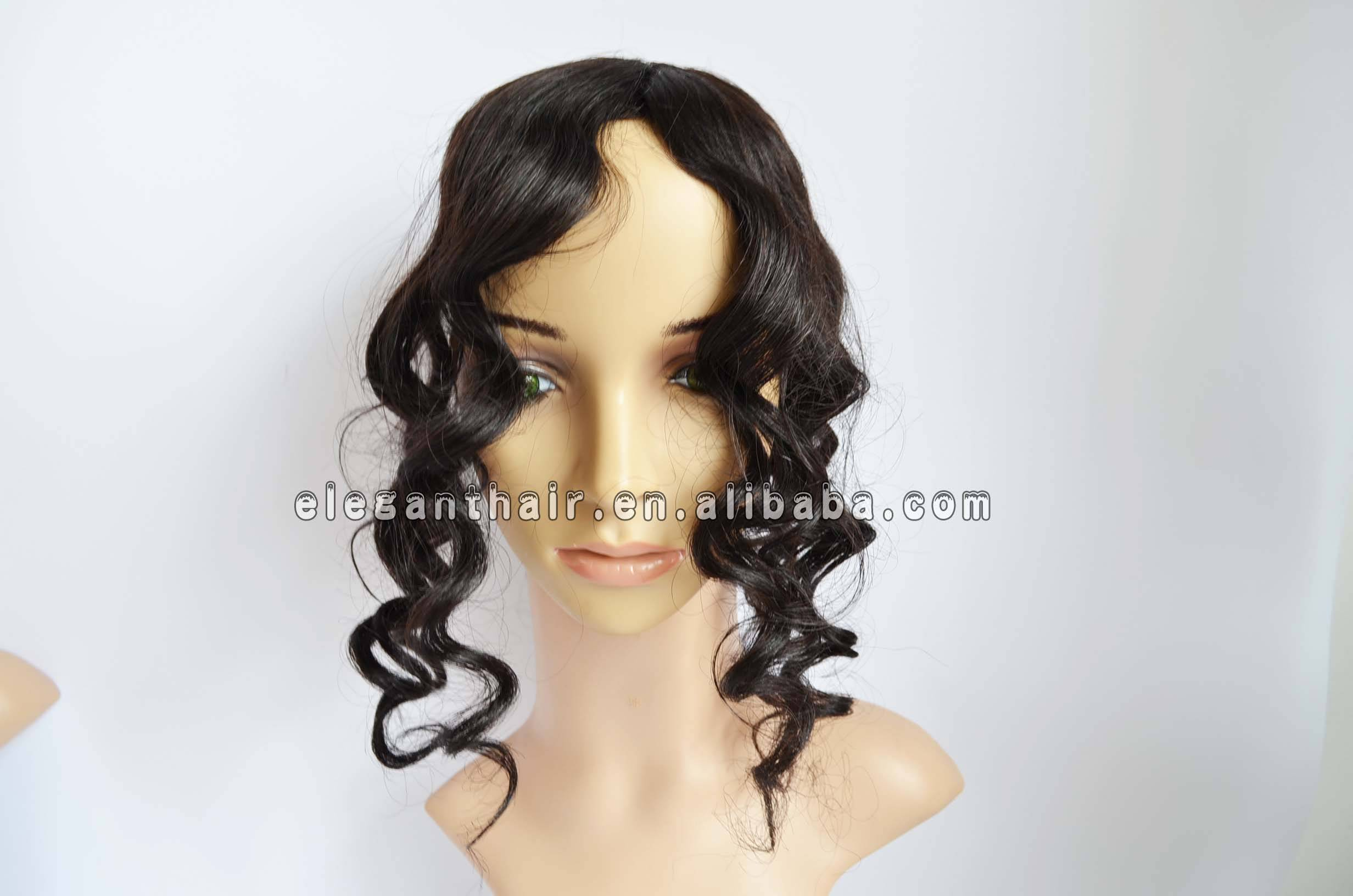 Natural color indian remy hair body wave human hair toupee