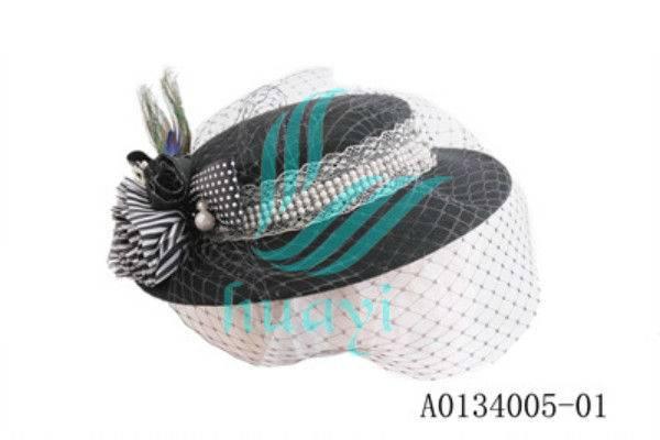Trendy unique ladies wool felt wedding or party hats hot sale