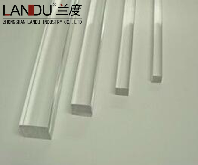 High quality different size transparent acrylic square rods acrylic square bars acrylic square stick