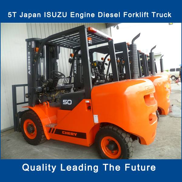 5 ton new diesel powered forklift truck price with Japan engine