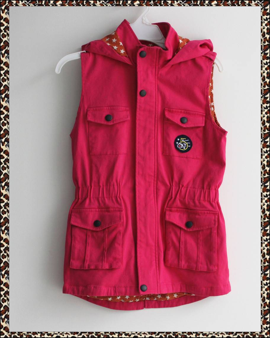 High quality children's vest, girls vest