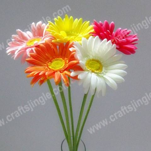 sell Colorful single gerbera artificial flower for decoration