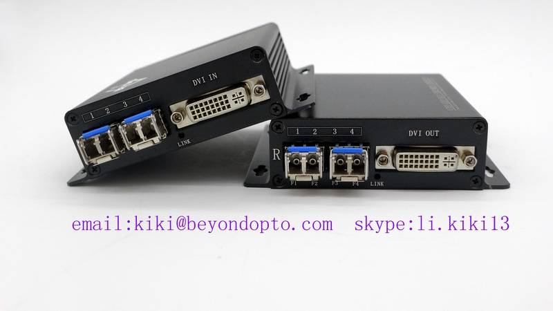 720P/1080P DVI extender to fiber optic over 4LC for polycom system, support splicing screen