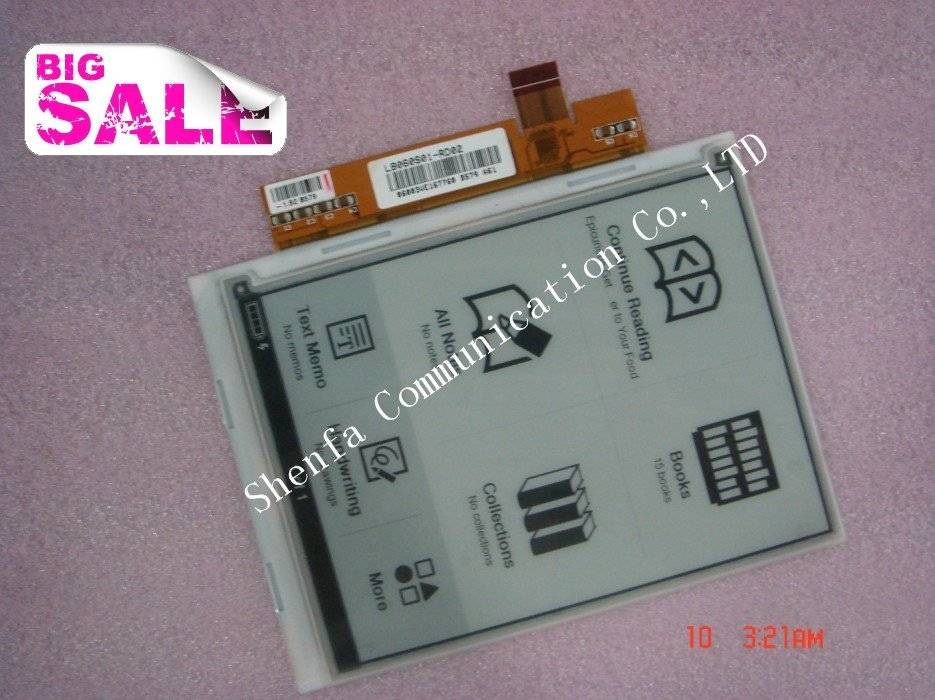 Wholeasle New original E-ink LCD LB060S01-RD01 LCD display for ebook reader