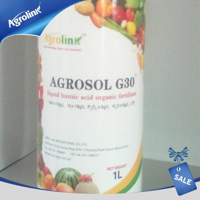 Agrolink G30 Liquid Humic Acid Organic Fertilizer For Agriculture Usage