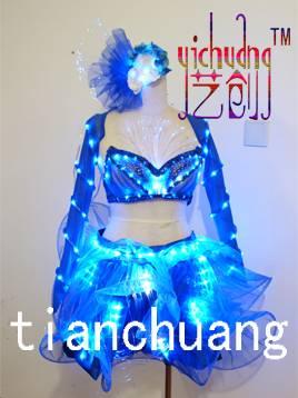 LED Dress LED Belly Dance Dress LED Luminous Dress