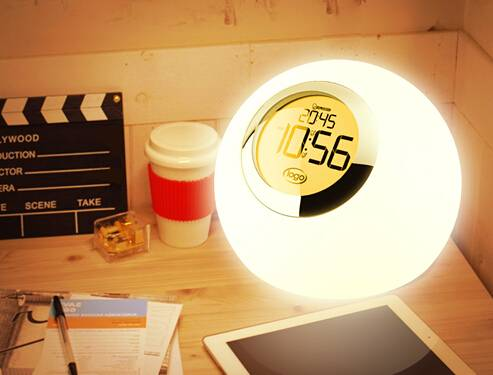 color changing mood light & alarm set