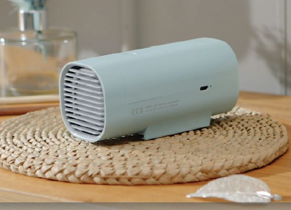 Air Purifier compact size battery charging method for easy use