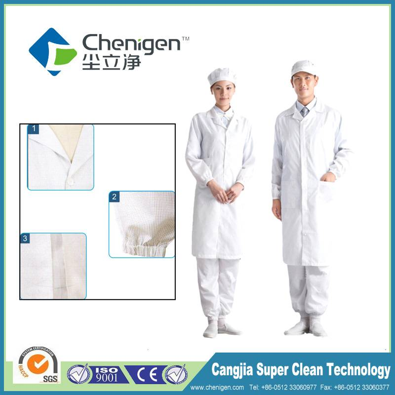 Antistatic cleanroom gown