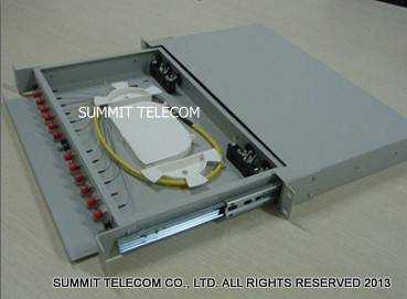Fiber Optic Distribution Unit Slidable Drawer Type 12~72 Core, Fiber Optic Splice Patch Panel