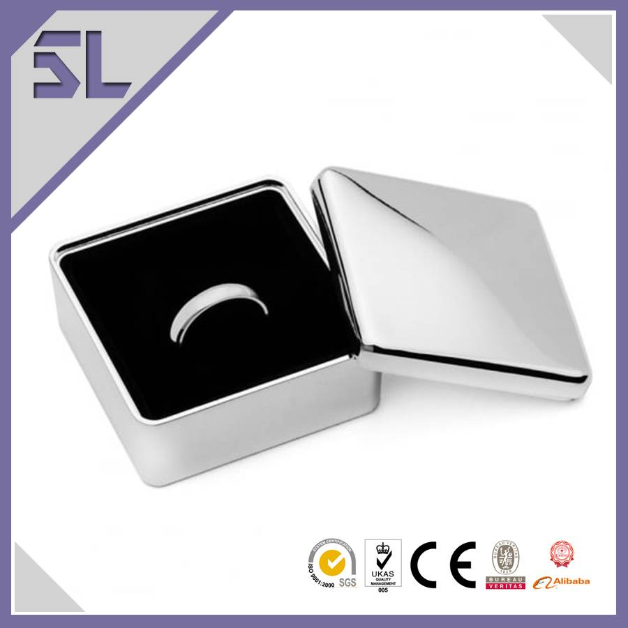 Zinc Alloy Square Shape Ring Jewelry Box