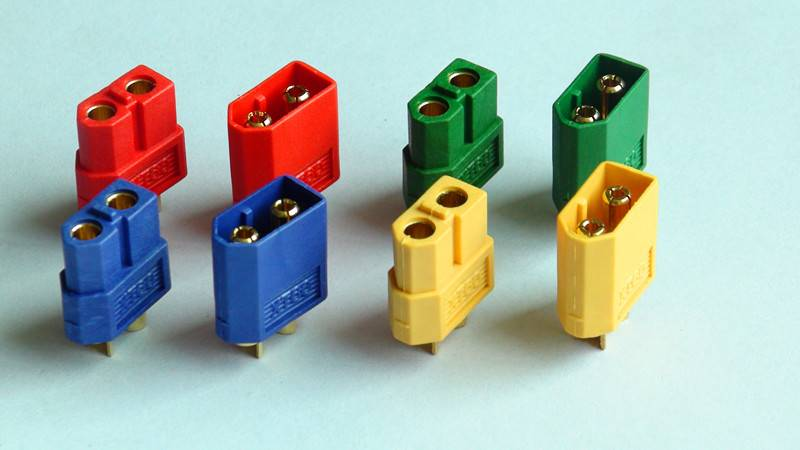different color no wire XT 60 connector adapter with 3.5 mm gold plated banana plug