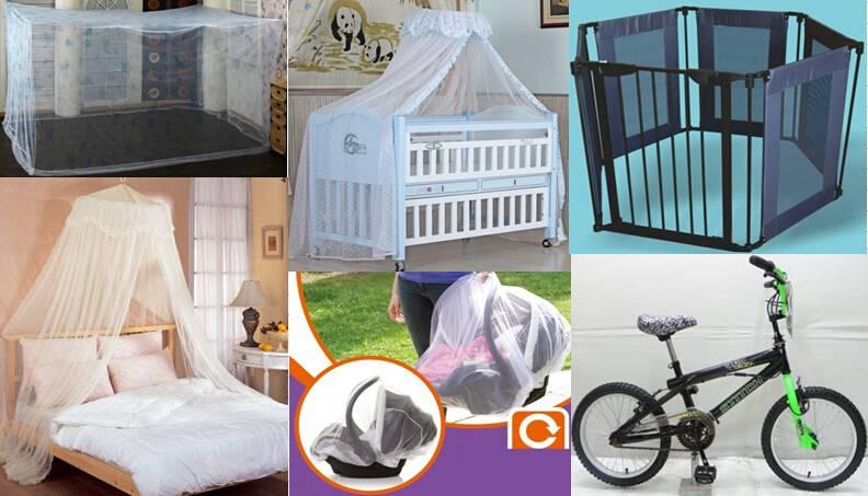 Mosquito Nets / Children Bike / baby carrier / Safety Gate