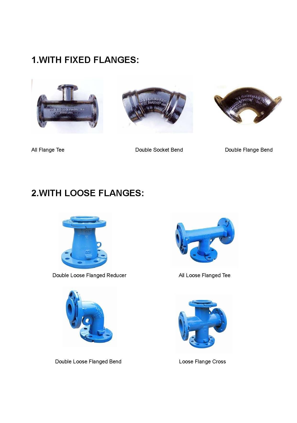 Ductile iron pipe fittings to BS4772/ISO2531/BS EN545