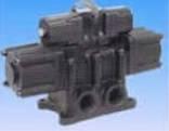 Konan 454 series direct piping type compact explosion-proof 5-port solenoid valve spool valve