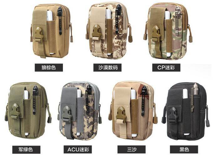 Nylon Made Waterproof Tactical Waist Bags