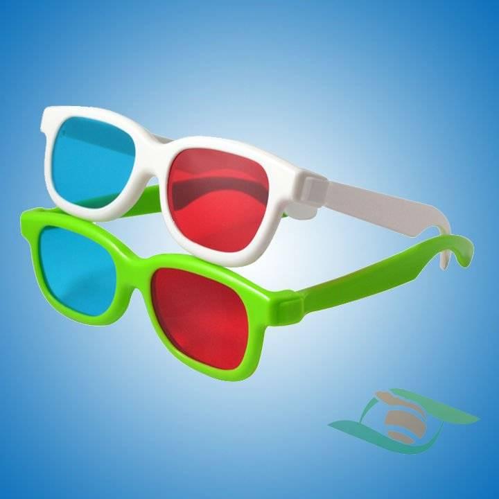 High quality red cyan 3d glasses