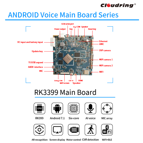 RK3399 Android AI Main Board for Service Robotic