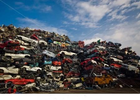 Scrap Iron and Steel - Flattened Scrap Car Bodies