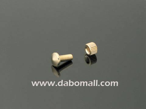 Brass standoffs, label pin type for hanging sign display
