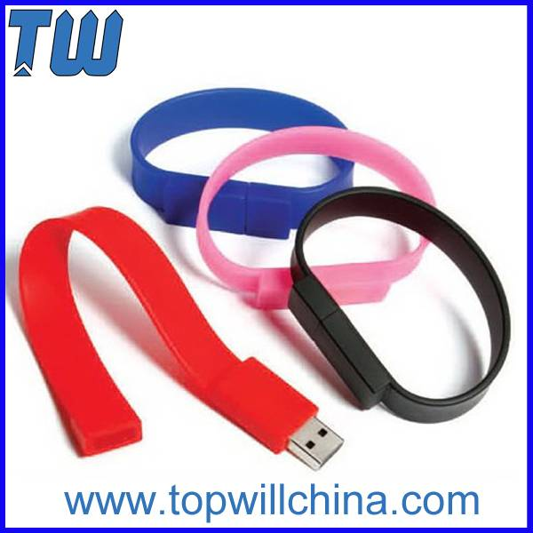 Silicon Wristband Silicon Usb Flash Drives Free Logo Printing
