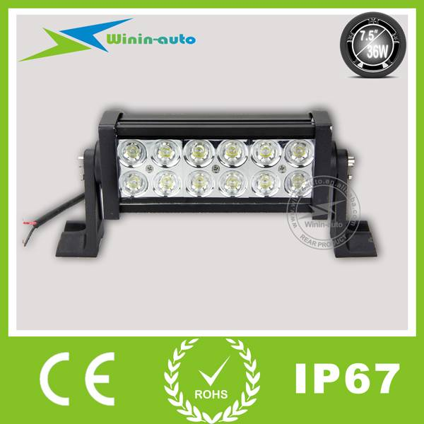 7.5 36W Double Row Cree LED Light Bar for off-road ATV SUV 2900Lumen WI9021-36