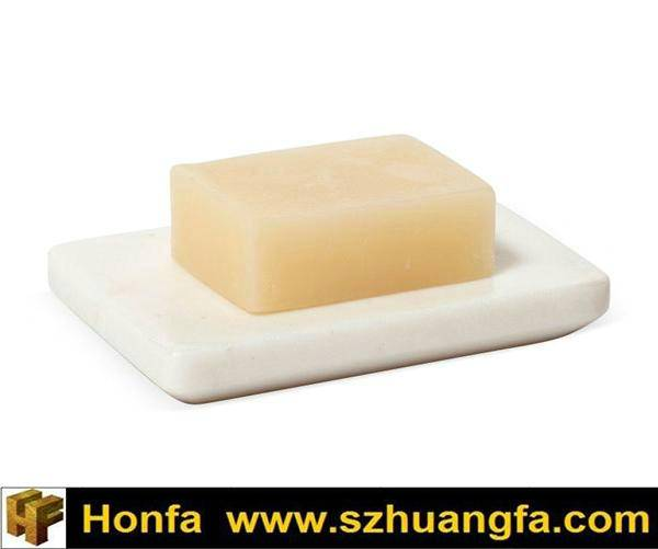 White Square Marble Soap Dish