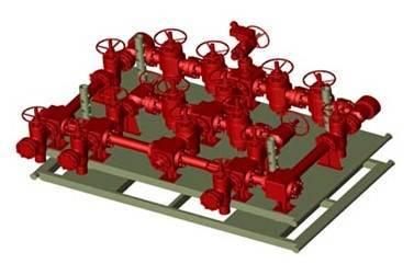 BOP, Manifolds, valves, pipelines