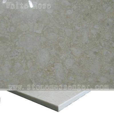 Promotion Laminated Marble Panel-white Rose Laminated With Ceramic