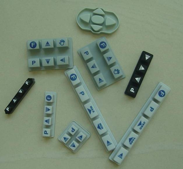 Rubber Silicone keypads keys buttons