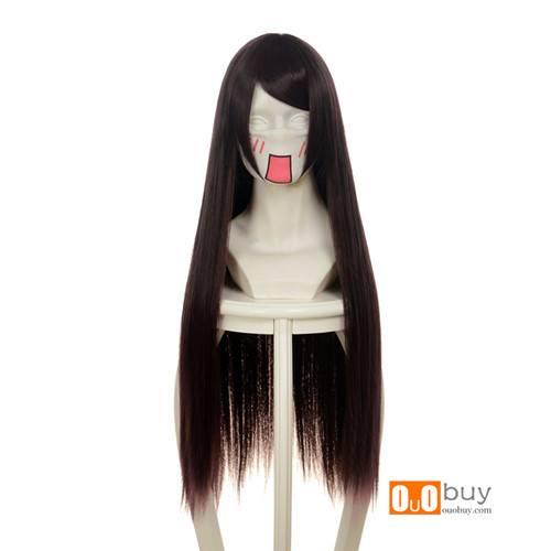 Selling Evangelion EVA Makinami Illustrious Mixed Dark Brown Long Straight Cosplay Wig