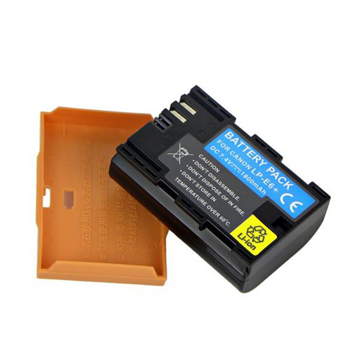 Digital camera battery for Canon 5D mark III, high capacity with long time display