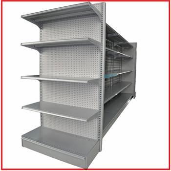 used heavy duty double side supermarket shelves