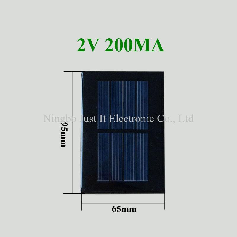 2V 200mA 0.4W 95x65mm Epoxy Mini Solar Cell