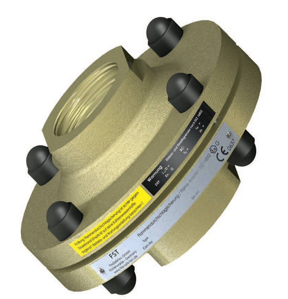 FST103 In-line deflagration flame arrester