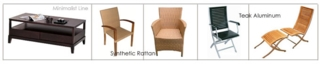 Teak & Synthetic Rattan outdoor/indoor furniture