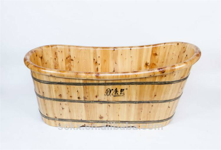 Wooden bathtub wooden massage tub soaking tub