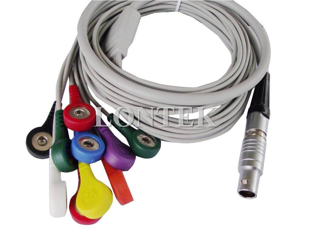 Brentwood 10 leads holter ECG cable