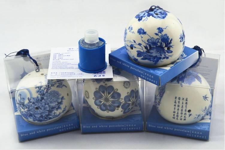4 pcs Chinese style porcelain air freshener