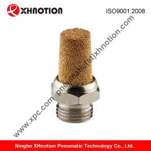 brass welding machine muffler, air compressor brass silencer, bronze sintered silencer