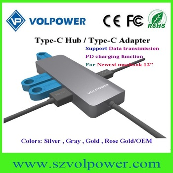 USB TYPE C Adapter Premium Type-C Hub PD USB 3.0 4K HDM I Aluminum HUB