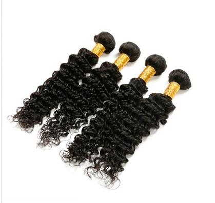 [8A]4 Bundles Brazilian Deep Wave Hair Weave