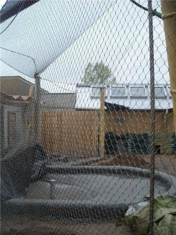 zoo bird cage,zoo mesh,rope mesh,aviary mesh