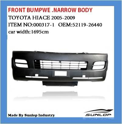 toyota body kits #52119-26440 front bumper.narrow body for Hiace2005 up,hiace200,commuter van bus