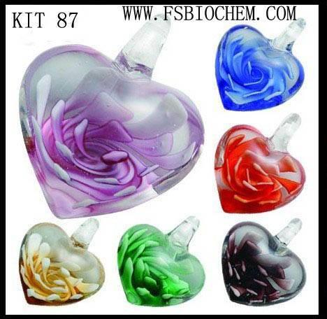 muraon glass pendant Sets,Murano glass necklace sets,Murano lampwork glass pendants/earrings sets